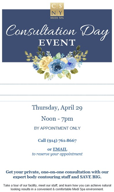Due To Popular Demand, We're Offering Another April Consultation Day Event!